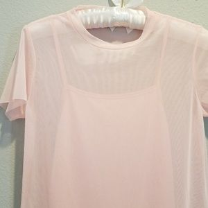 41eb780f6ea89 Tilly's Dresses | Full Tilt Mesh Pink Tshirt Dress | Poshmark